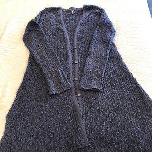 Free People Gray Long Sweater